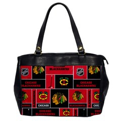 Chicago Blackhawks Nhl Block Fleece Fabric Office Handbags