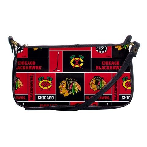 Chicago Blackhawks Nhl Block Fleece Fabric Shoulder Clutch Bags