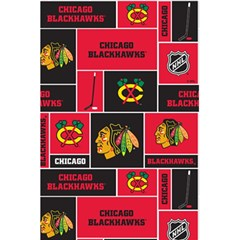 Chicago Blackhawks Nhl Block Fleece Fabric 5 5  X 8 5  Notebooks