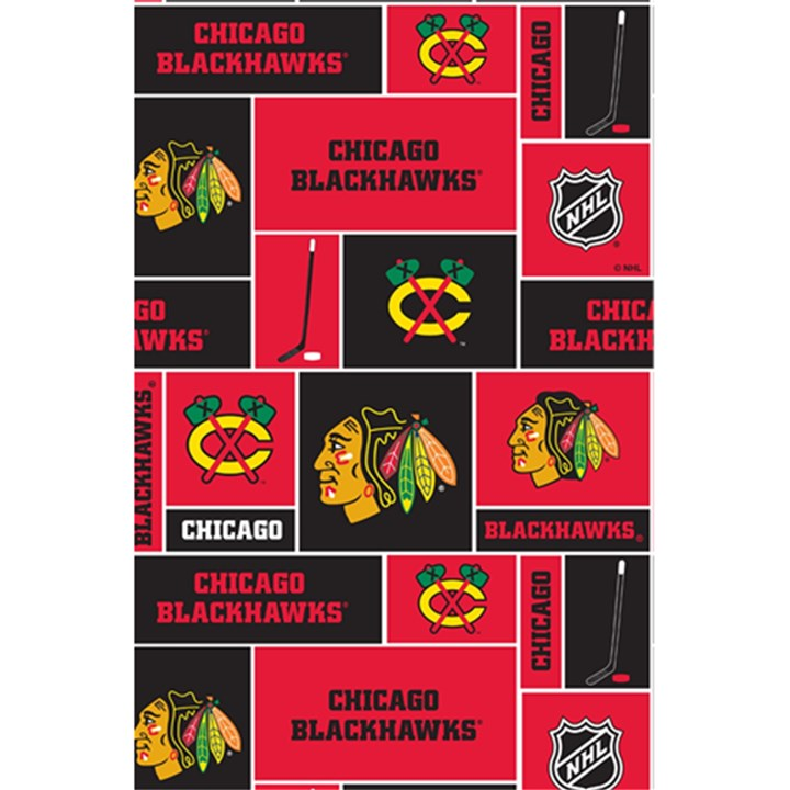 Chicago Blackhawks Nhl Block Fleece Fabric 5.5  x 8.5  Notebooks