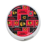 Chicago Blackhawks Nhl Block Fleece Fabric 4-Port USB Hub (One Side) Front