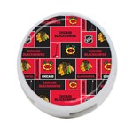 Chicago Blackhawks Nhl Block Fleece Fabric 4-Port USB Hub (Two Sides)  Back