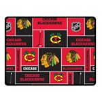 Chicago Blackhawks Nhl Block Fleece Fabric Fleece Blanket (Small) 50 x40 Blanket Front