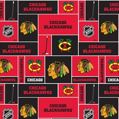 Chicago Blackhawks Nhl Block Fleece Fabric Magic Photo Cubes