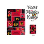 Chicago Blackhawks Nhl Block Fleece Fabric Playing Cards 54 (Mini)  Front - HeartQ