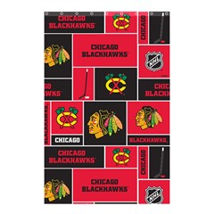 Chicago Blackhawks Nhl Block Fleece Fabric Shower Curtain 48  x 72  (Small)