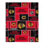 Chicago Blackhawks Nhl Block Fleece Fabric Shower Curtain 60  x 72  (Medium)  54.25 x65.71 Curtain