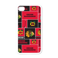 Chicago Blackhawks Nhl Block Fleece Fabric Apple iPhone 4 Case (White)