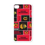 Chicago Blackhawks Nhl Block Fleece Fabric Apple iPhone 4 Case (White) Front