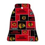 Chicago Blackhawks Nhl Block Fleece Fabric Bell Ornament (2 Sides) Back
