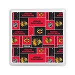 Chicago Blackhawks Nhl Block Fleece Fabric Memory Card Reader (Square)  Front