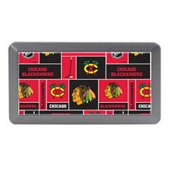 Chicago Blackhawks Nhl Block Fleece Fabric Memory Card Reader (Mini)
