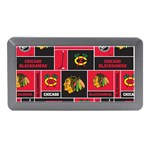 Chicago Blackhawks Nhl Block Fleece Fabric Memory Card Reader (Mini) Front