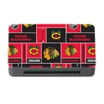 Chicago Blackhawks Nhl Block Fleece Fabric Memory Card Reader with CF Front