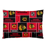 Chicago Blackhawks Nhl Block Fleece Fabric Pillow Case (Two Sides) Front