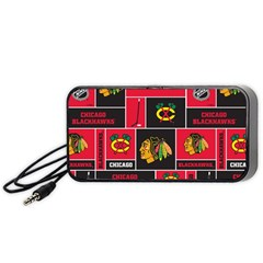 Chicago Blackhawks Nhl Block Fleece Fabric Portable Speaker (Black)