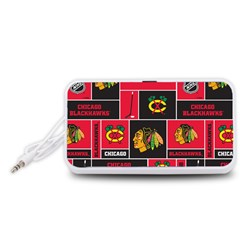 Chicago Blackhawks Nhl Block Fleece Fabric Portable Speaker (White)