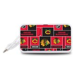 Chicago Blackhawks Nhl Block Fleece Fabric Portable Speaker (White)  Front