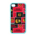 Chicago Blackhawks Nhl Block Fleece Fabric Apple iPhone 4 Case (Color) Front