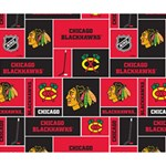 Chicago Blackhawks Nhl Block Fleece Fabric Deluxe Canvas 14  x 11  14  x 11  x 1.5  Stretched Canvas