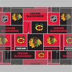 Chicago Blackhawks Nhl Block Fleece Fabric Deluxe Canvas 16  x 12   16  x 12  x 1.5  Stretched Canvas