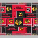 Chicago Blackhawks Nhl Block Fleece Fabric Deluxe Canvas 24  x 20   24  x 20  x 1.5  Stretched Canvas