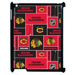 Chicago Blackhawks Nhl Block Fleece Fabric Apple iPad 2 Case (Black) Front
