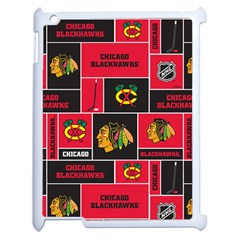 Chicago Blackhawks Nhl Block Fleece Fabric Apple iPad 2 Case (White)