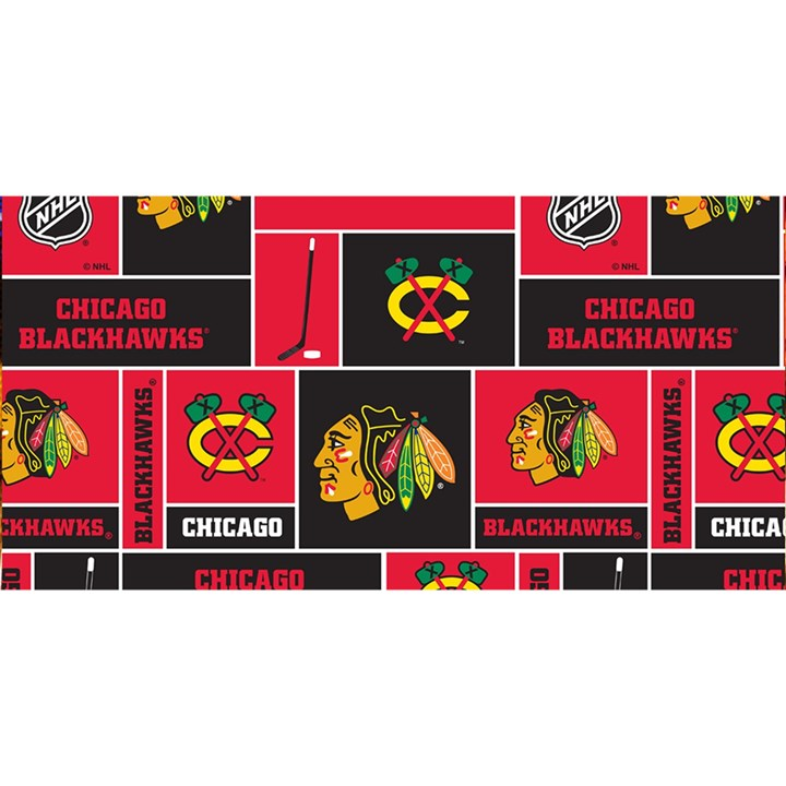Chicago Blackhawks Nhl Block Fleece Fabric YOU ARE INVITED 3D Greeting Card (8x4)
