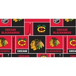 Chicago Blackhawks Nhl Block Fleece Fabric Twin Heart Bottom 3D Greeting Card (8x4) Front