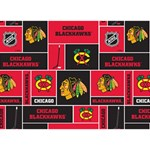Chicago Blackhawks Nhl Block Fleece Fabric Ribbon 3D Greeting Card (7x5) Front