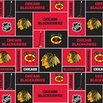 Chicago Blackhawks Nhl Block Fleece Fabric Best Wish 3D Greeting Card (8x4) Inside