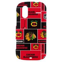 Chicago Blackhawks Nhl Block Fleece Fabric HTC Amaze 4G Hardshell Case