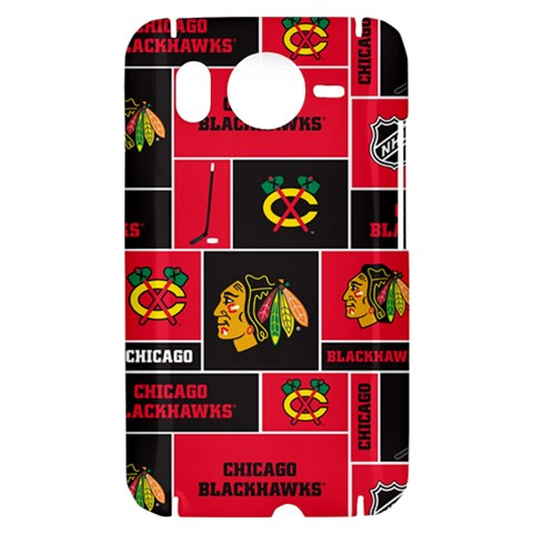 Chicago Blackhawks Nhl Block Fleece Fabric HTC Desire HD Hardshell Case