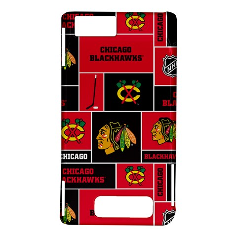 Chicago Blackhawks Nhl Block Fleece Fabric Motorola DROID X2