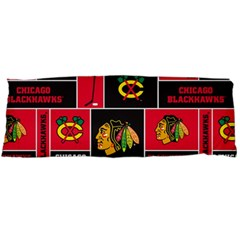 Chicago Blackhawks Nhl Block Fleece Fabric Body Pillow Case Dakimakura (Two Sides)