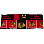 Chicago Blackhawks Nhl Block Fleece Fabric Body Pillow Case Dakimakura (Two Sides) Back