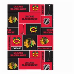 Chicago Blackhawks Nhl Block Fleece Fabric Small Garden Flag (two Sides)