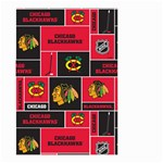 Chicago Blackhawks Nhl Block Fleece Fabric Small Garden Flag (Two Sides) Back