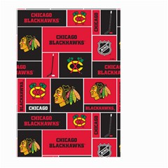 Chicago Blackhawks Nhl Block Fleece Fabric Large Garden Flag (two Sides)