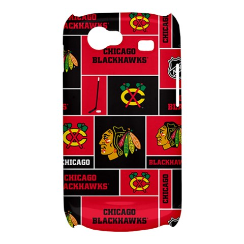 Chicago Blackhawks Nhl Block Fleece Fabric Samsung Galaxy Nexus S i9020 Hardshell Case