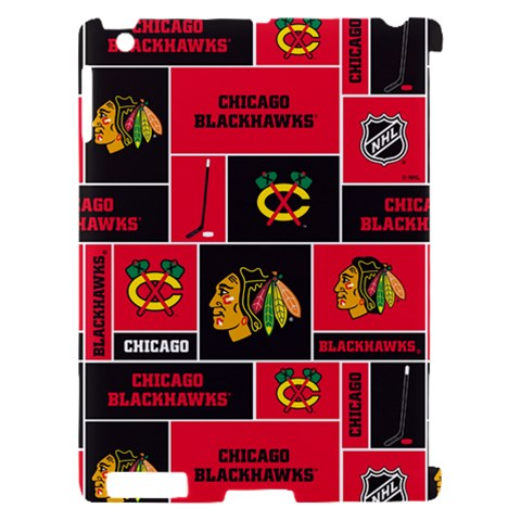 Chicago Blackhawks Nhl Block Fleece Fabric Apple iPad 2 Hardshell Case (Compatible with Smart Cover)