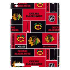 Chicago Blackhawks Nhl Block Fleece Fabric Apple iPad 3/4 Hardshell Case