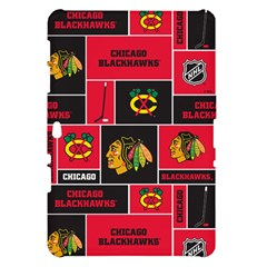 Chicago Blackhawks Nhl Block Fleece Fabric Samsung Galaxy Tab 10.1  P7500 Hardshell Case