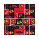 Chicago Blackhawks Nhl Block Fleece Fabric Acrylic Tangram Puzzle (6  x 6 ) Front