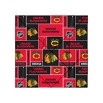 Chicago Blackhawks Nhl Block Fleece Fabric Acrylic Tangram Puzzle (4  x 4 ) Front
