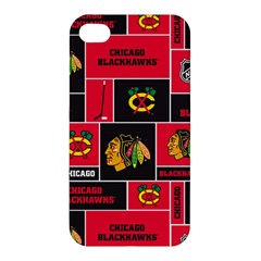 Chicago Blackhawks Nhl Block Fleece Fabric Apple iPhone 4/4S Premium Hardshell Case