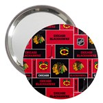 Chicago Blackhawks Nhl Block Fleece Fabric 3  Handbag Mirrors Front