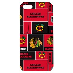 Chicago Blackhawks Nhl Block Fleece Fabric Apple Iphone 5 Hardshell Case