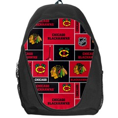 Chicago Blackhawks Nhl Block Fleece Fabric Backpack Bag